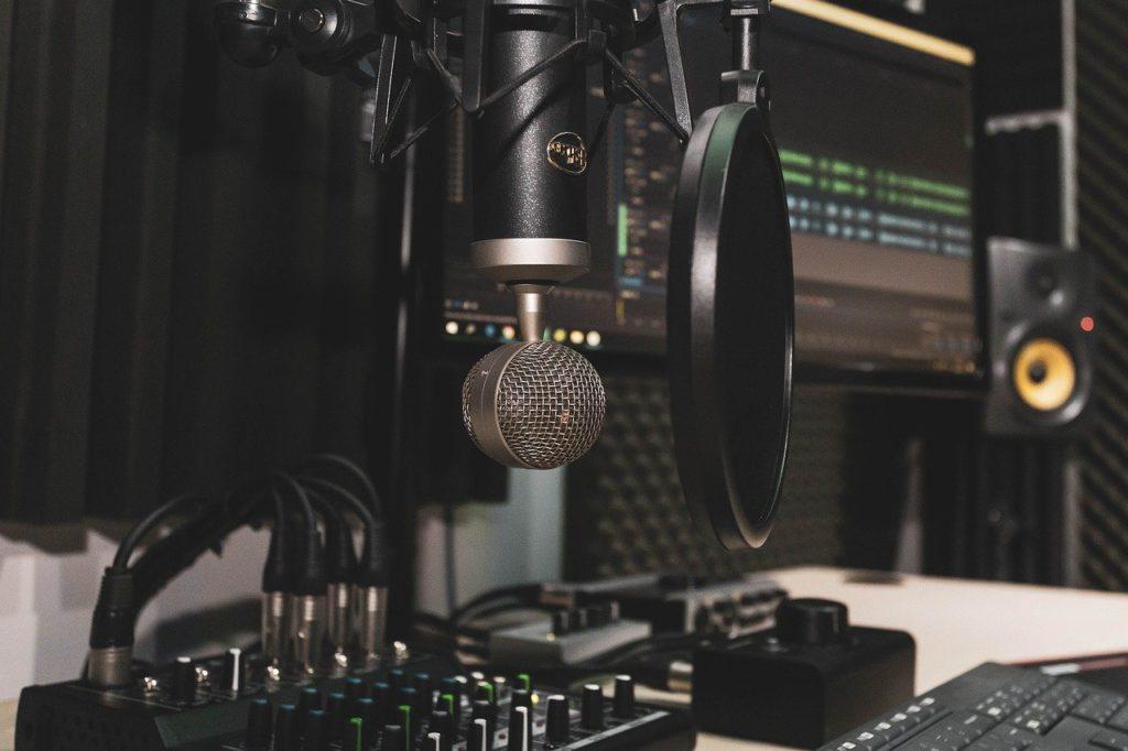 studio, microphone, rec